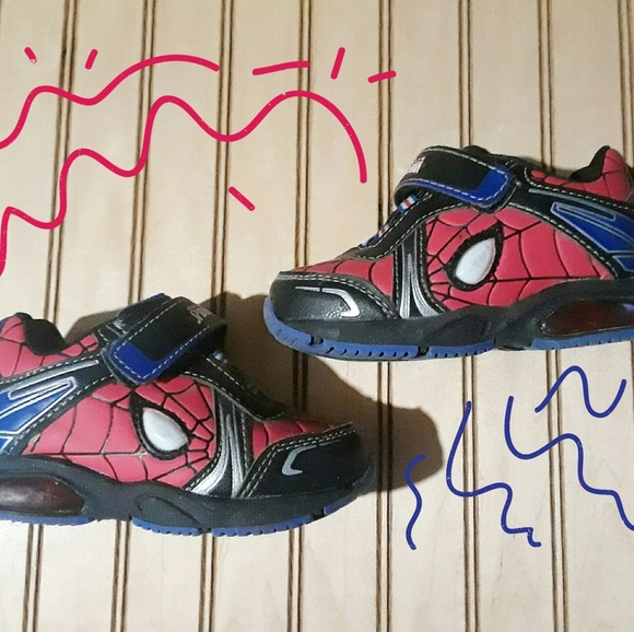 07d4feb8a7b Marvel Spiderman Light up Sneakers, Toddler Boys
